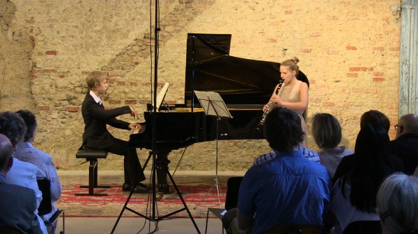 Angelo Volpini, Klavier  Esther Sinka, Klarinette